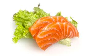 sake sashimi 2 Scheiben