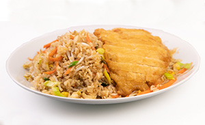 Fried rice with crispy chicken