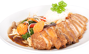 Gong Po with crispy duck