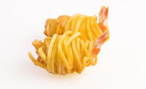 Garnelen im Kartoffelnest