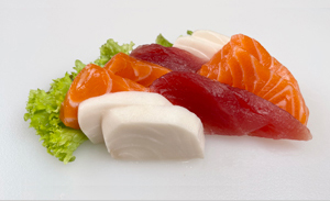 Rainbow sashimi