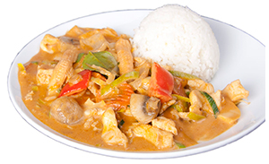 Thai curry with chicken
