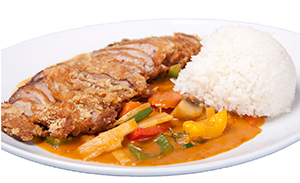 Thai curry with crispy duck